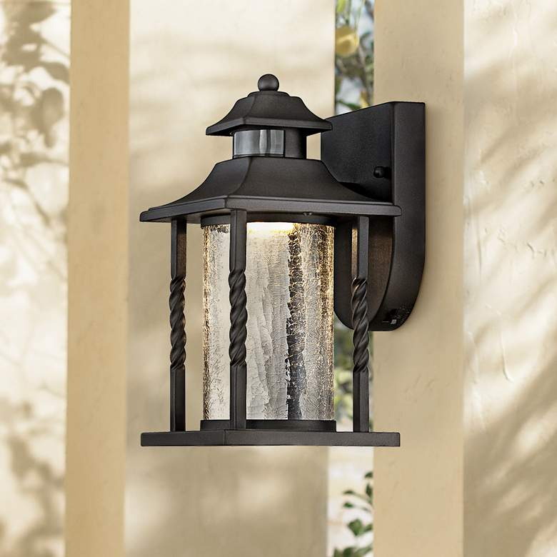 Westray 11 1 2 H Black Motion Sensor Led Outdoor Wall Light 7k617 Lamps Plus 12h 7k617 Bla In 2020 Outdoor Wall Lighting Outdoor Wall Light Fixtures Wall Lights