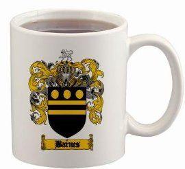 $15.99 Barnes Coat of Arms Mug / Family Crest 11 ounce cup ...