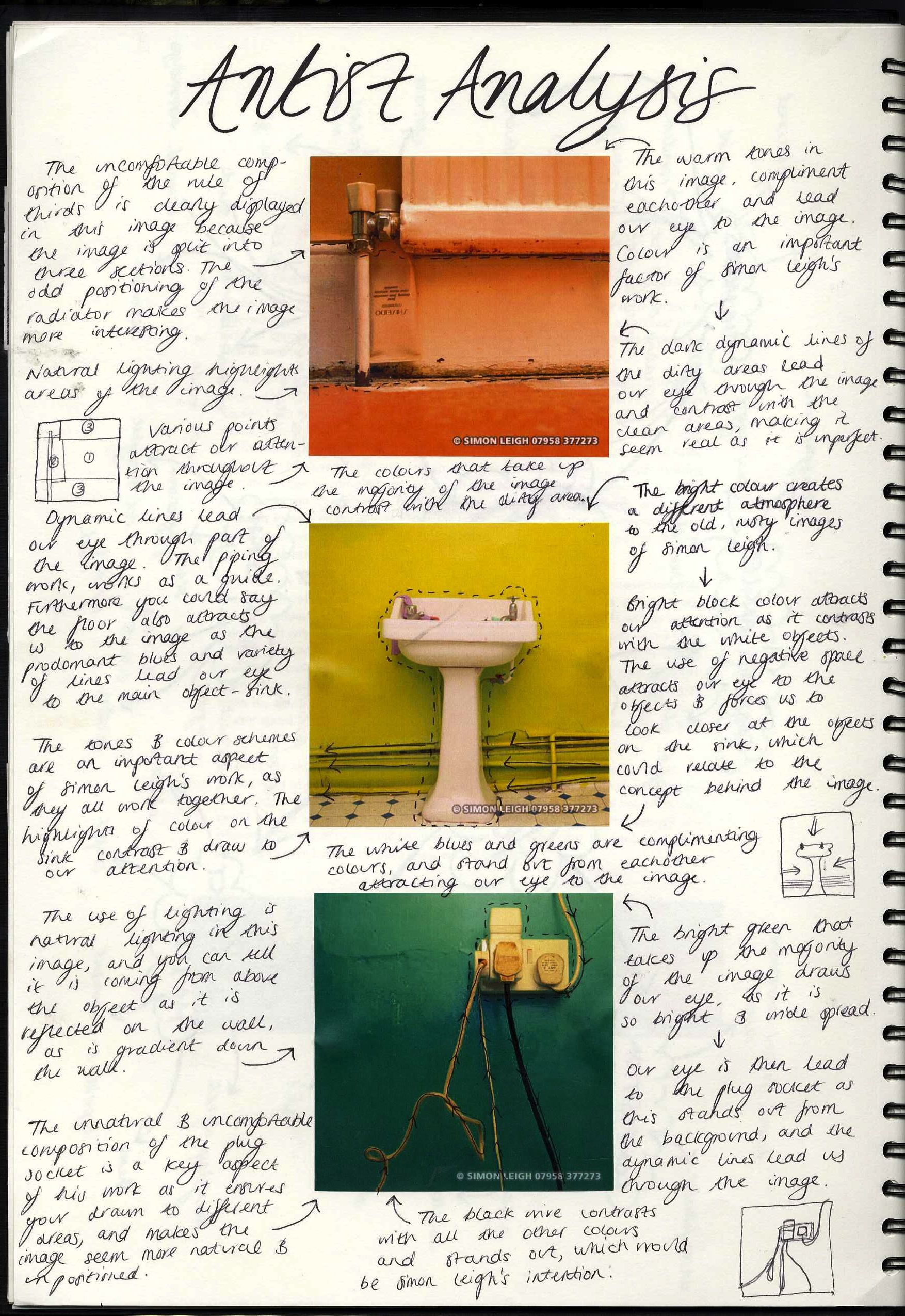 Example Artist Analysis  Visual Journal    Artist