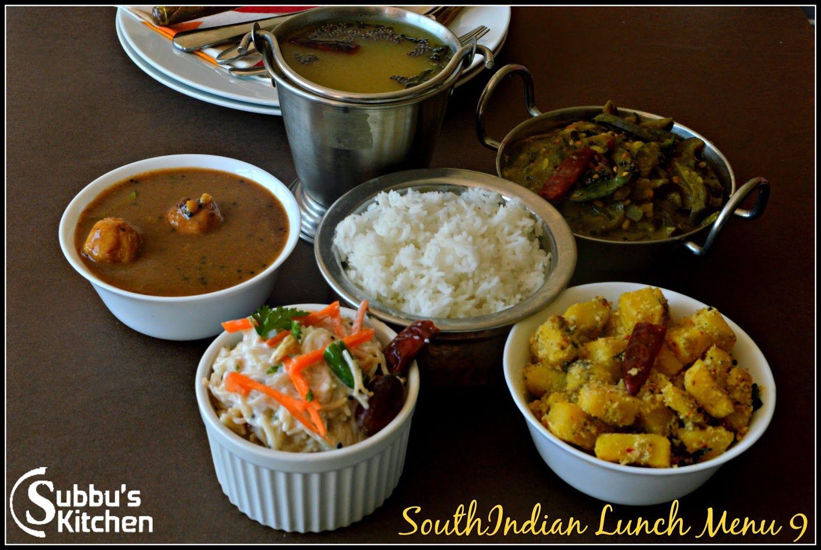 South Indian Lunch Menu 9 Paruppu Urundai Kuzhambu Mor Rasam Raw Banana Poriyal Brinjal Stew And Curd Semiya Lunch Menu Lunch Raw Banana