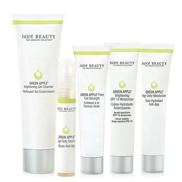 Green Apple Brightening Solutions Kit Juice Beauty Gel Cleanser Organic Skin Care Routine