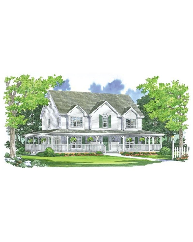 Farm House w/wrap around porch ♥....just give me a big ol porch and ...