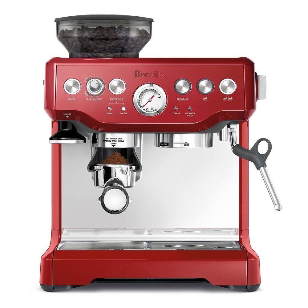Breville Bes870xl Barista Express Espresso Cappuccino Machine Cranberry Red Breville Espresso Machine Best Espresso Machine Espresso