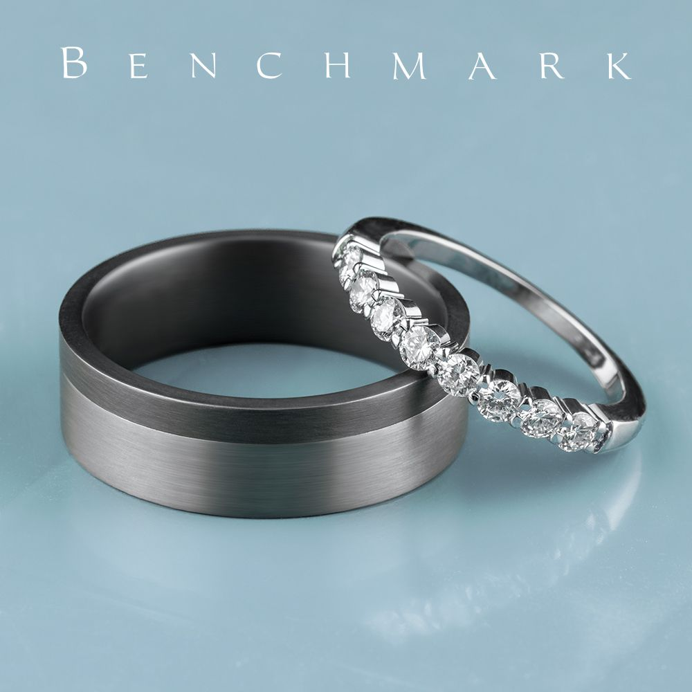 7mm Tantalum Men S Wedding Ring With A Grey Tantalum Satin Accent