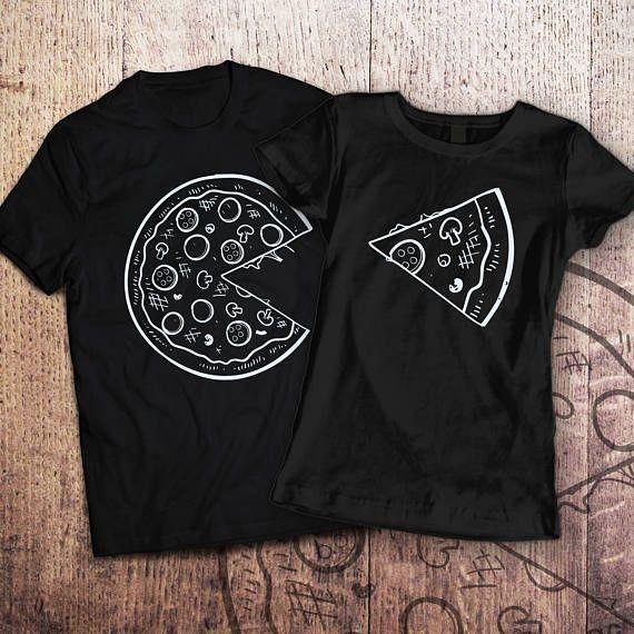 6db3bf6c6 Pizza t shirt   piece of pizza   couple shirts   matching couple ...