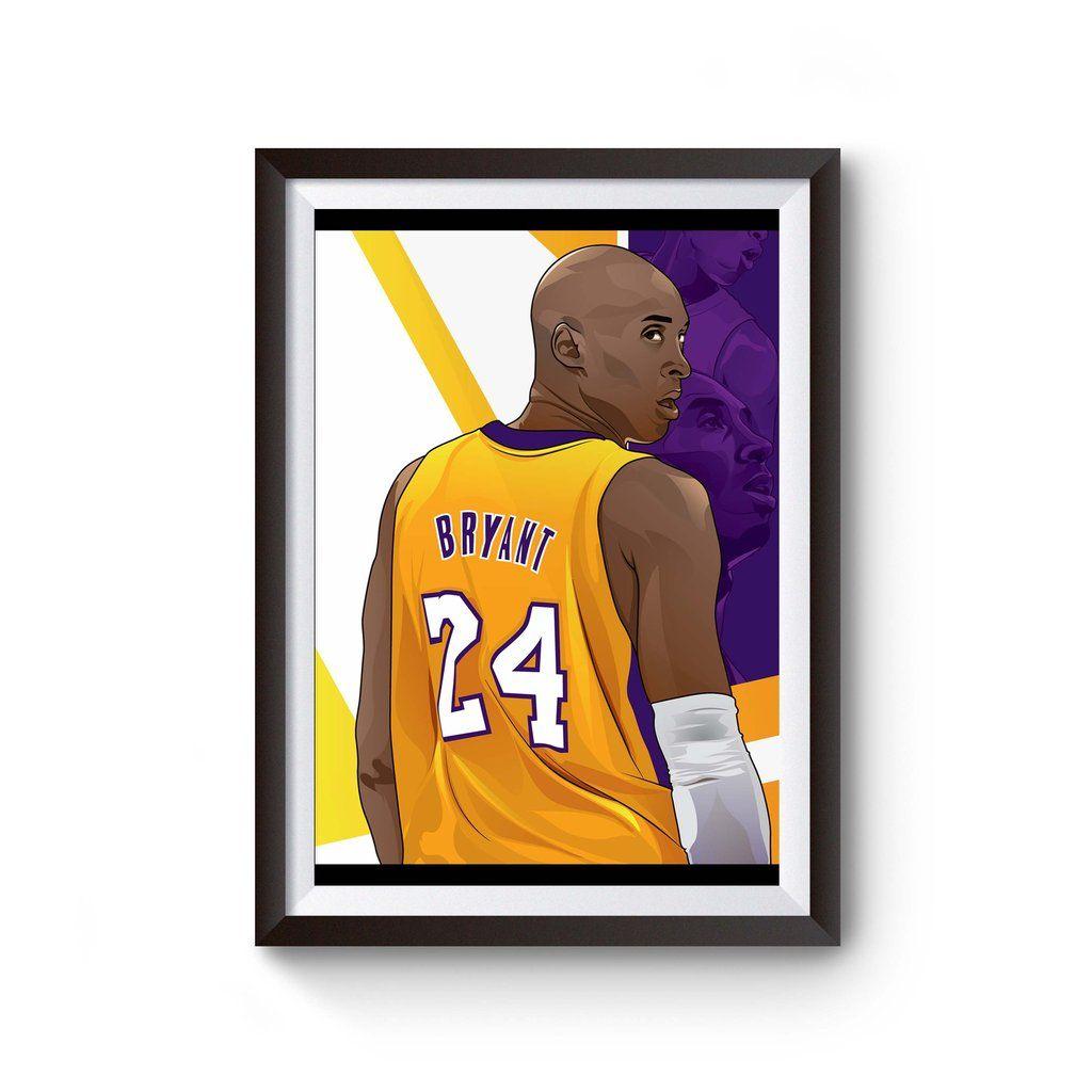 """126 Kobe Bryent KB LA Lakers Black Mamba NBA MVP Basketball 42/""""x24/"""" Poster"""