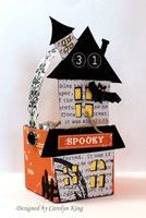 A Project by CammieKing from 2Peas Galleries featuring Lori Whitlock's Haunted House Silhouette Cutting File.