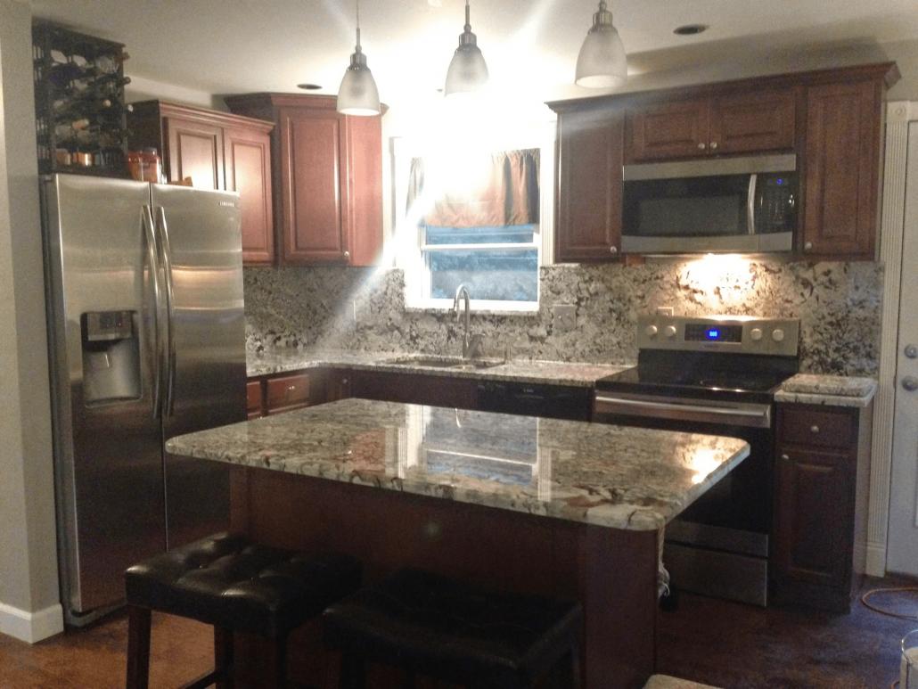New Azul Aran Granite Kitchen   New Azul Aran Granite ...