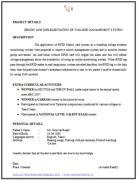 Sports Resume Resume Format For A Ece 2  Career  Pinterest  Resume Format