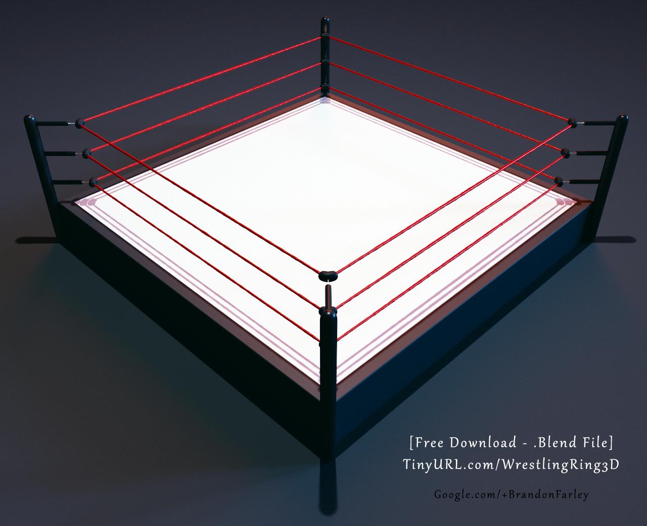 Wrestling Boxing Ring Sports 3d Model Boxing Rings Blender 3d
