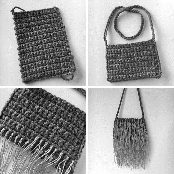 Crochet Fringe Bag Instructions