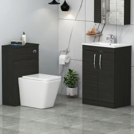 1100mm Hale Black 2 Doors Furniture Pack With Minimalist Basin Elena Back To Wall Toilet In 2020 Back To Wall Toilets Door Furniture Basin Vanity Unit