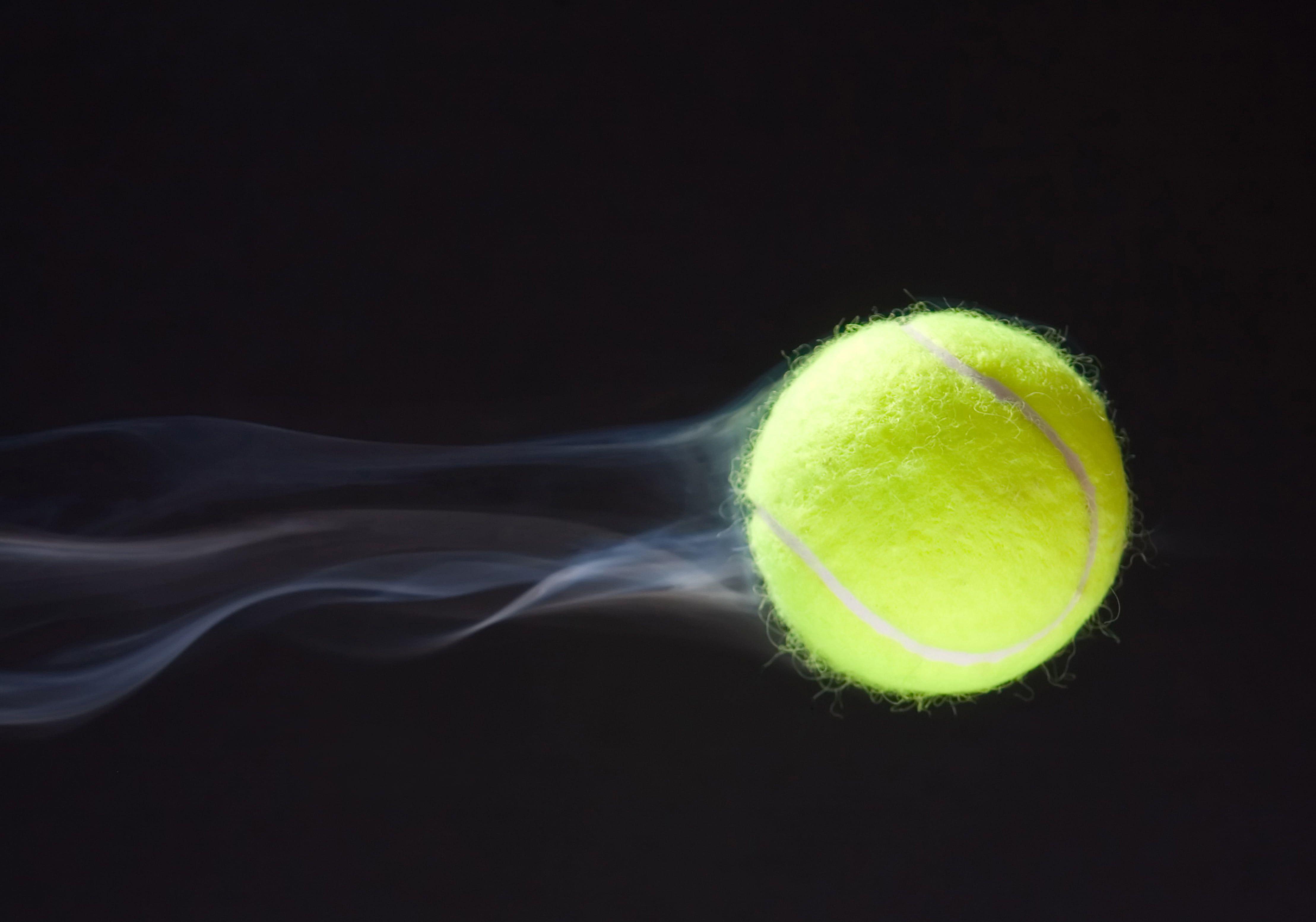 Green Tennis Ball Macro Speed Trajectory Train Tennis Tennis Wallpaper Flight Dark Blue Background Tennis Ball Ten Tennis Wallpaper Tennis Tennis Ball