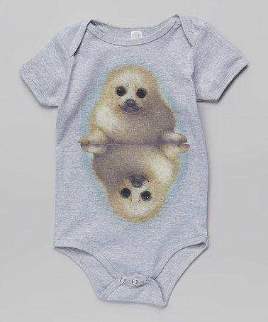 Love this Gray Seal the Deal Bodysuit - Infant by WOWCH on #zulily! #zulilyfinds