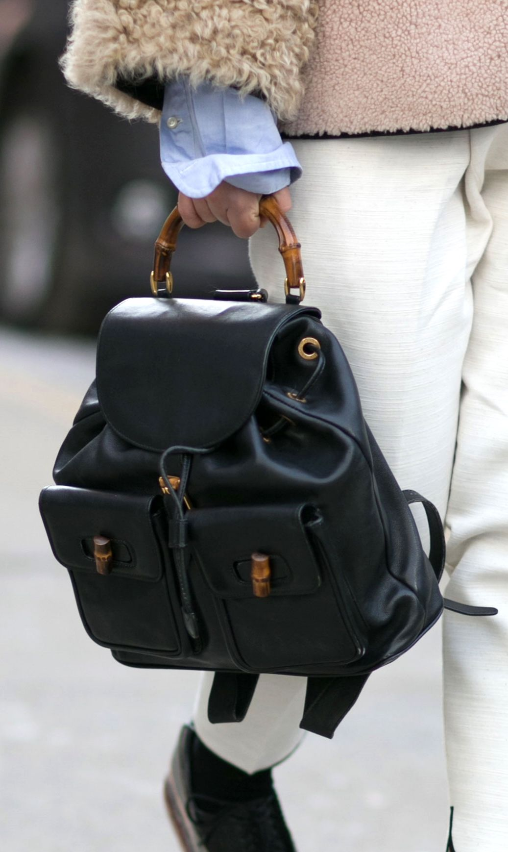3f18b49c8a8 The Gucci bamboo backpack. Yes please!