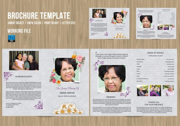 Funeral Program TemplateV  Shops Funeral And Program Template