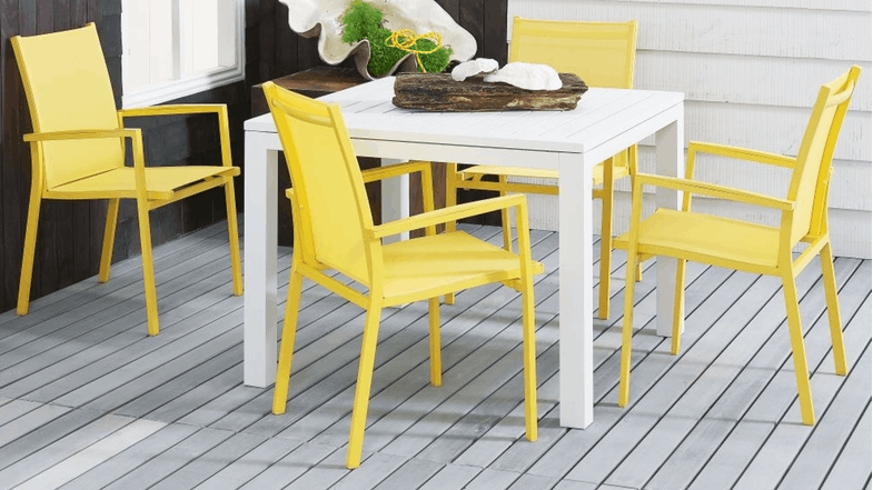Soho Carver Dining Chair Yellow