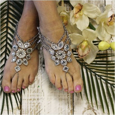 Barefoot sandals bohemian wedding boho style wedding foot jewelry