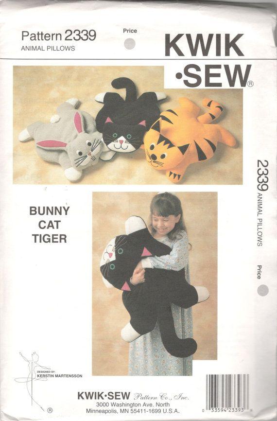 Kwik Sew 2339 Stuffed Animal Pillows Pattern Tiger By Mbchills Its