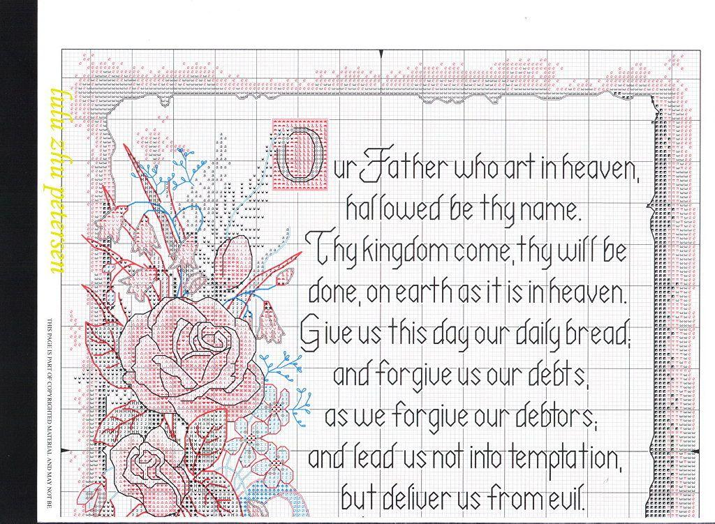 Lord's Prayer....solo esquemas religiosos | Aprender manualidades es facilisimo.com