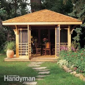 Screen House Plans Backyard Buildings Gazebo Plans Backyard Gazebo
