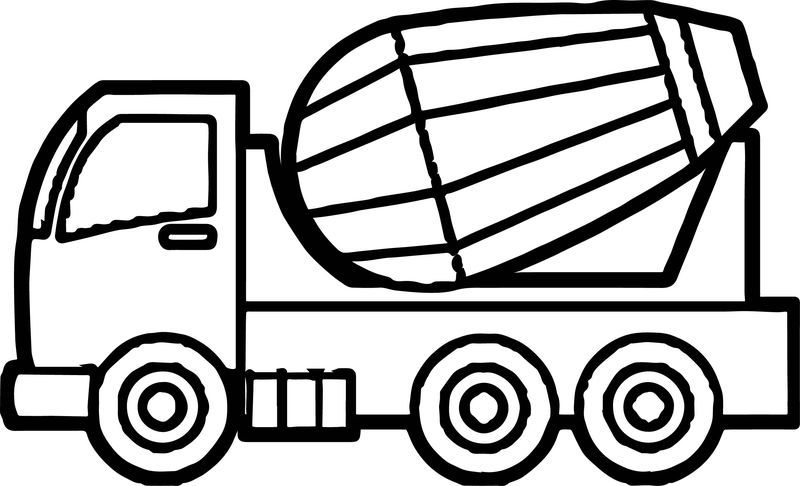 Just Cement Truck Coloring Page Truck Coloring Pages Cement
