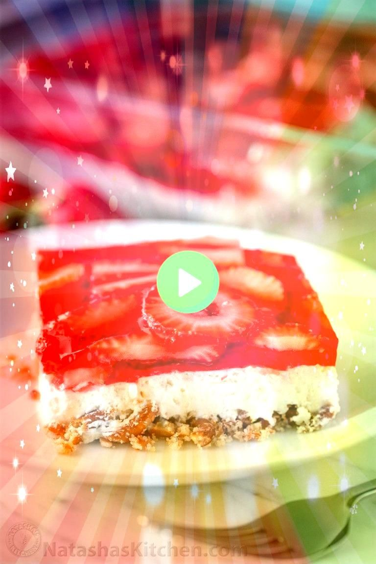 strawberry pretzel salad is always a hit at parties Its a strawberry jello dessert that is dangerously good Its sweet salty tart and irresistibleThis strawberry pretzel s...