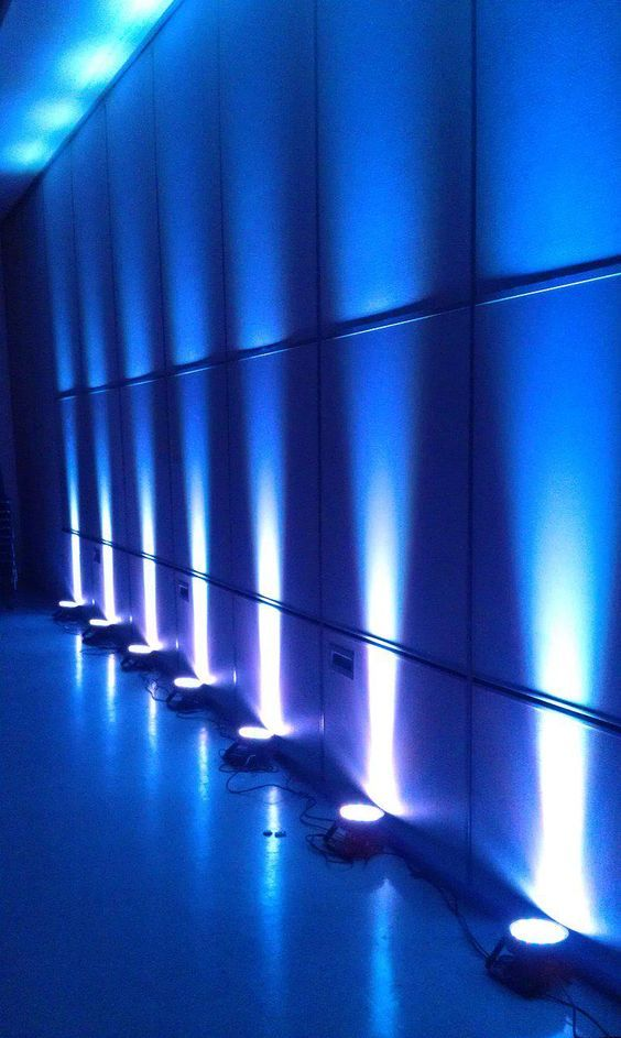 Blue Wall Lighting Lighting Event Lighting In 2019