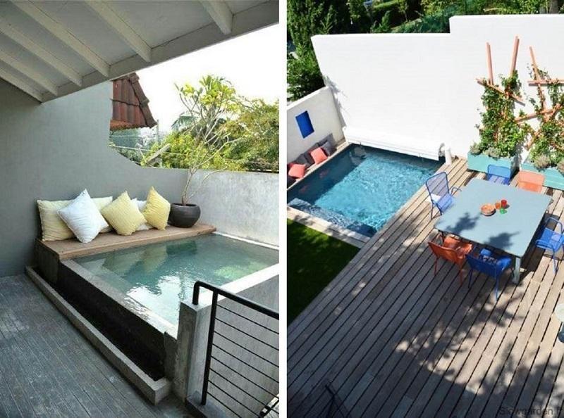pequeñas piscinas para pequeños espacios piscinas pequeñas