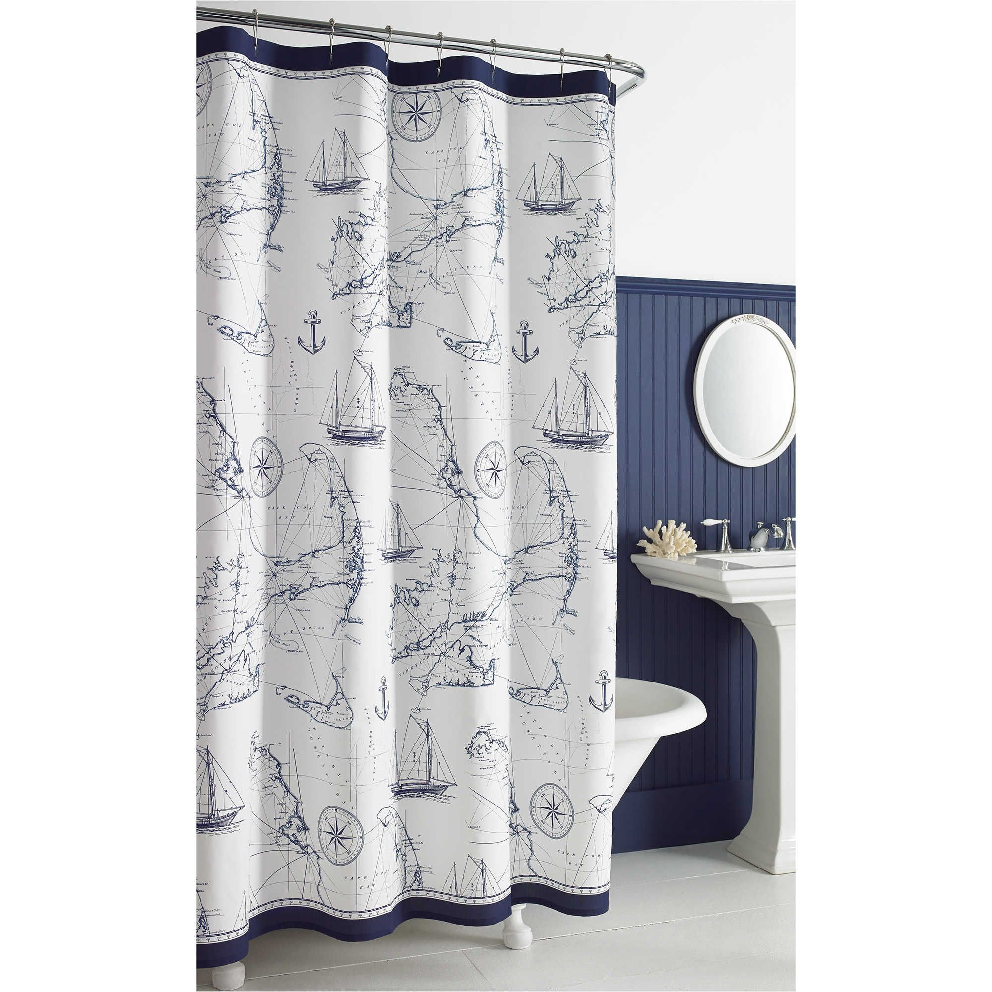 Cape island inch x inch shower curtain nautical christmas