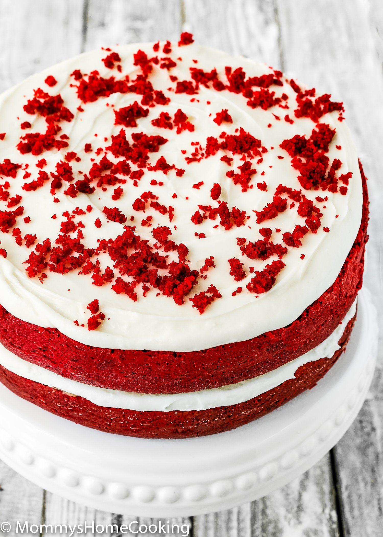 Eggless Red Velvet Cake Recipe Eggless Red Velvet Cake Velvet Cake Red Velvet Cake
