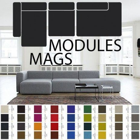 Mags Sofa Modular Units Fabrics And Leathers Create Your