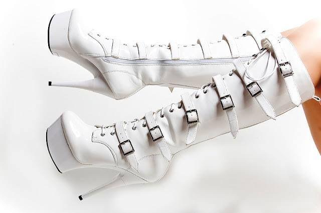 Beautiful white boots