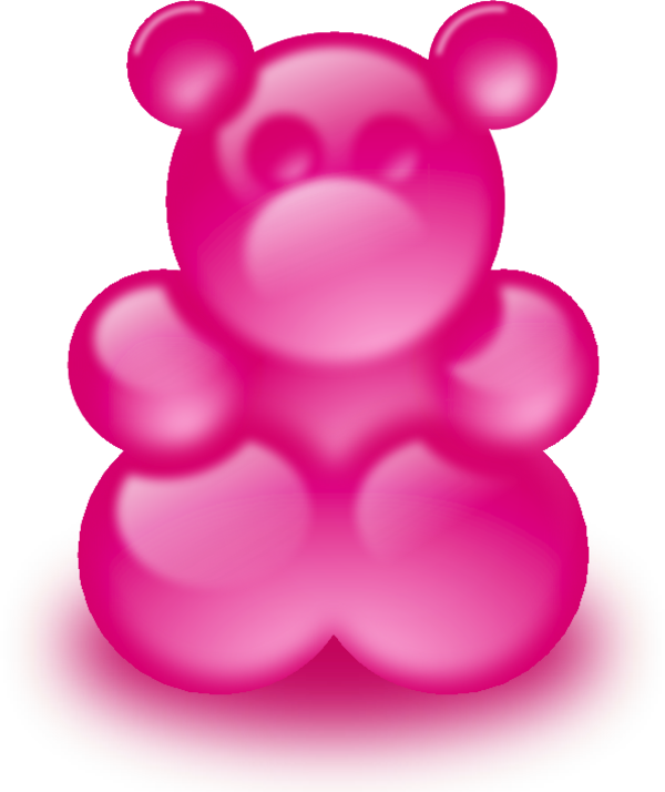 Pink Large Gummy Bear Sort Of 33 3 9126 Png 600 714 Pixels Gummy Bears Gummies Science Projects