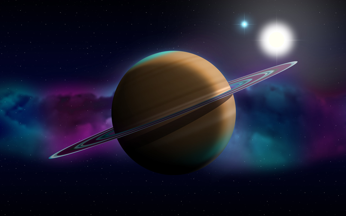 Telecharger Fonds D Ecran 4k Saturne Art 3d Nebuleuse Galaxie Etoiles Sci Fi De L Univers Les Planetes Abstrait Saturne Dessin Anime De La Planete Be Saturne 3d Art Galaxie