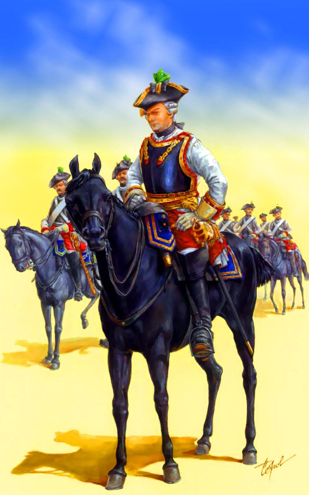 """Austrian 12th """"Zeer's"""" Cuirassiers Regiment, Seven Years War"""