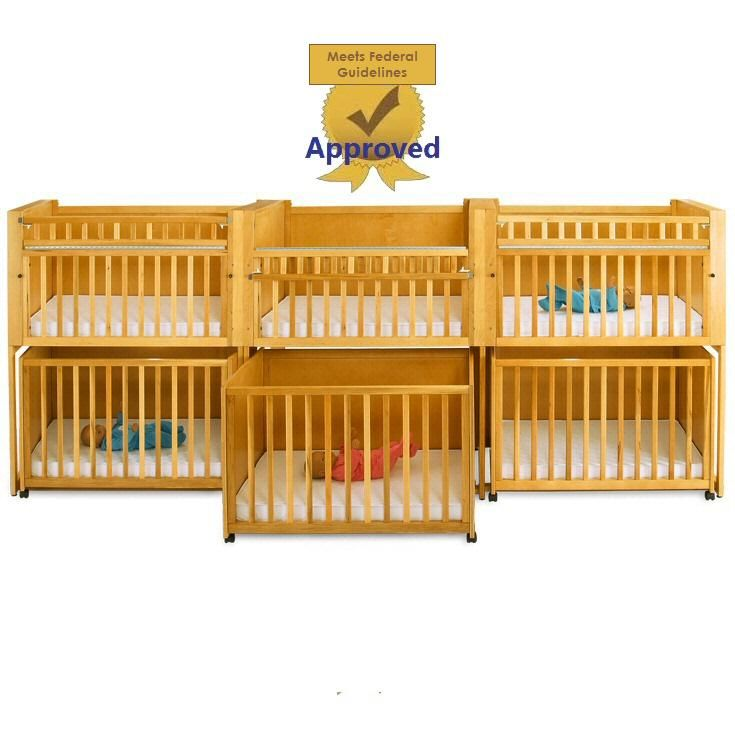 Six Unit Infant Daycare Bunkie Crib Stacking Cribs Stackable Crib