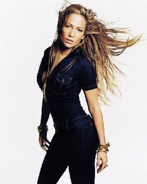 J Lo - I even owned a jumpsuit like this back in high school.