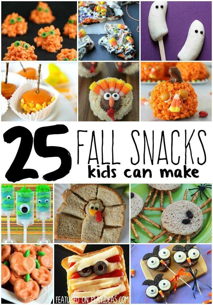 25 Diy Fall Snacks For Bigger Kids Fall Snacks Fall Snacks Kids Fall Party Snacks
