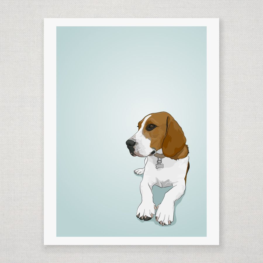 Beagle Illustrated Print By Disel Juice Beagle Art Beagle