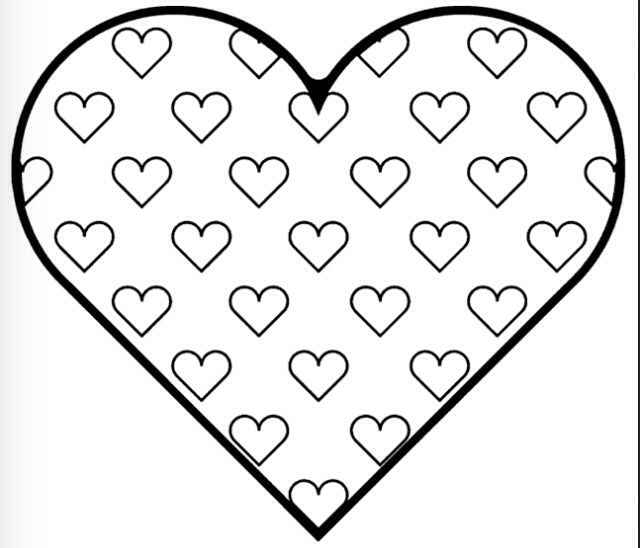 Valentine Hearts Coloring Pages Free Heart Printables In Page