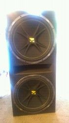 #Houston TX Merchandise / 15 #Kickers in box. - Geebo - #SubWoofers
