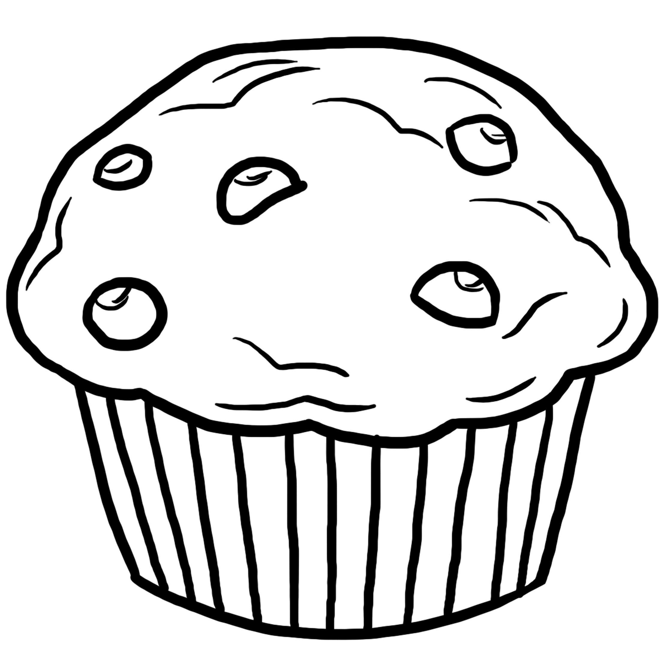 Muffin, Dessin à colorier, coloriage, printable, PDF, jeu