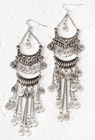 Burnished Chandelier Earrings Forever 21 1000097029