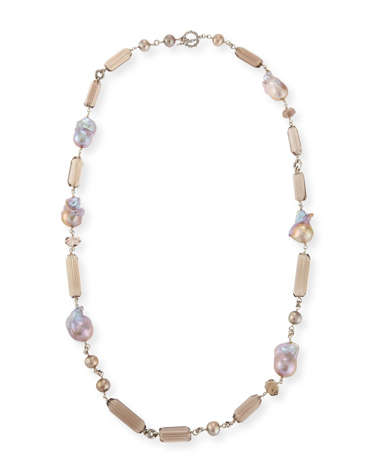 Stephen Dweck Long Champagne Pearl Single-Strand Necklace 9pNVfY6