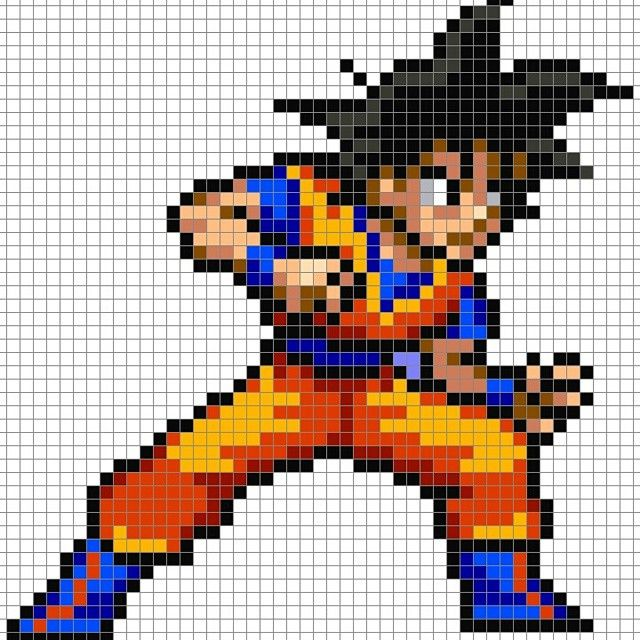 Dbz Goku Perler Pixel Pattern By 8bitofeverything Anime