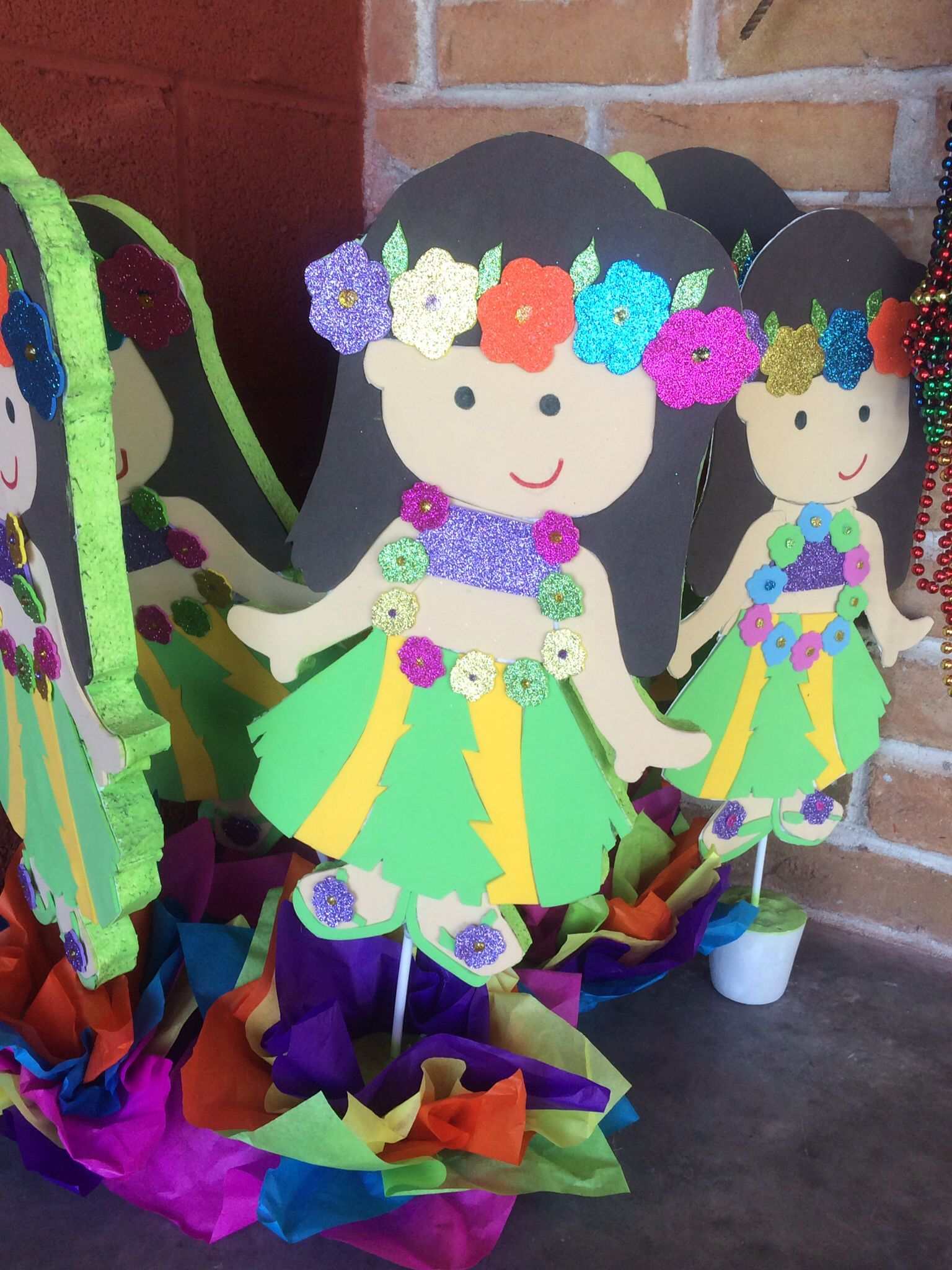 Hermosas hawaianas para centro de mesa fiesta pinterest for Mesas de centro bonitas