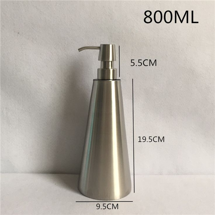 800ml 304 Stainless Steel Soap Dispenser Hand Sanitizer Bottle For