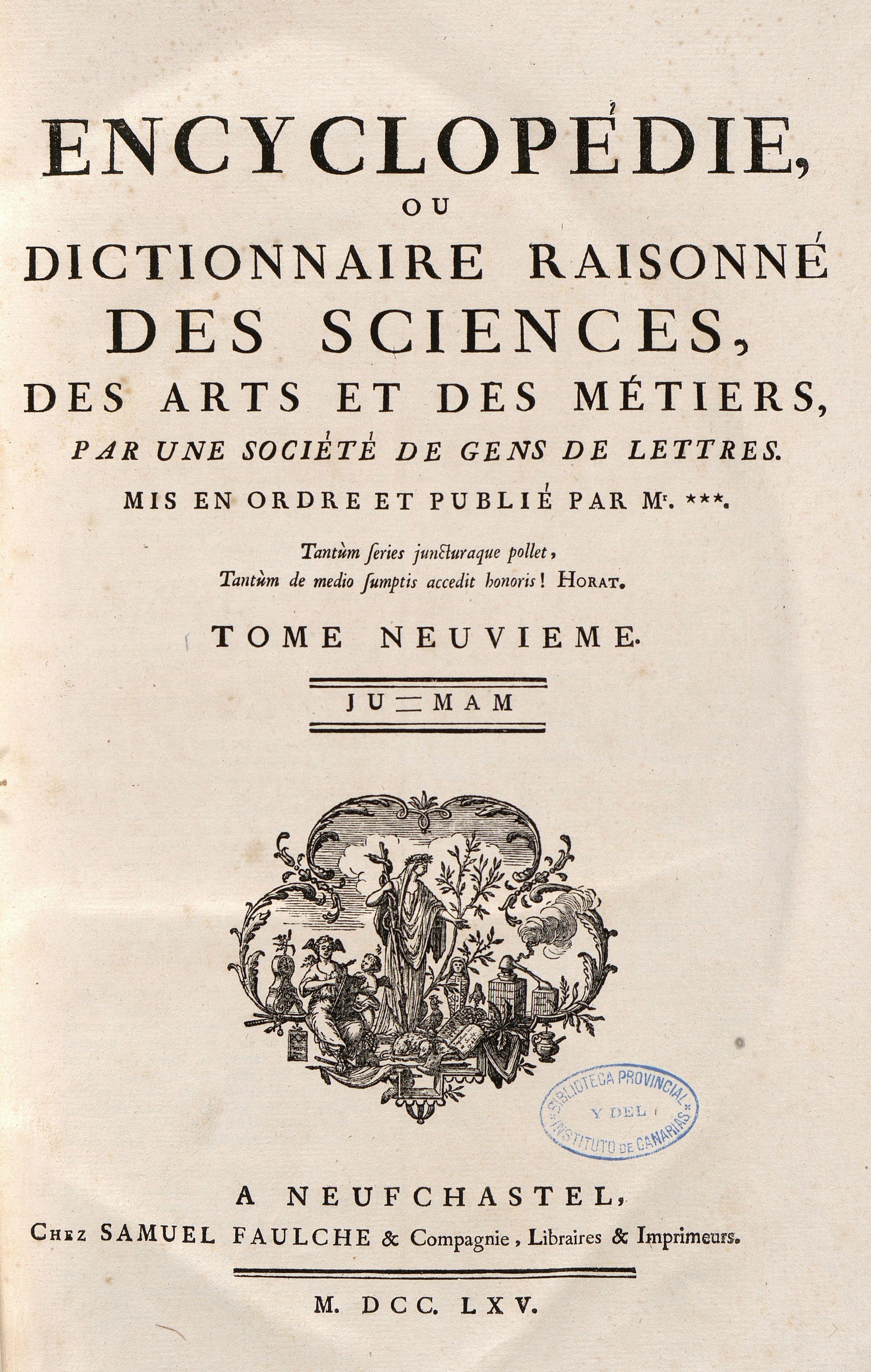 Portada A 8 Encyclopedie Ou Dictionnaire Raisonne Des Sciences Des Arts Et Des Metiers Par Une Societe De Gens De Lettres Mis E Portadas Exposiciones Libros