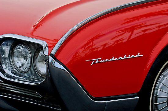 1961 Ford Thunderbird Headlight Emblem by Jill Reger